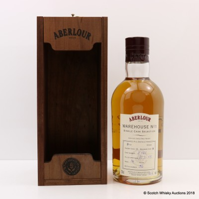 Aberlour 1995 16 Year Old Warehouse No1 Hand Filled Cask #8941