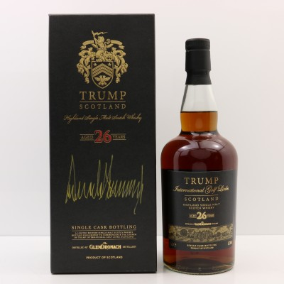 Glendronach 1985 26 Year Old Trump International Golf Links Signed By Donald Trump