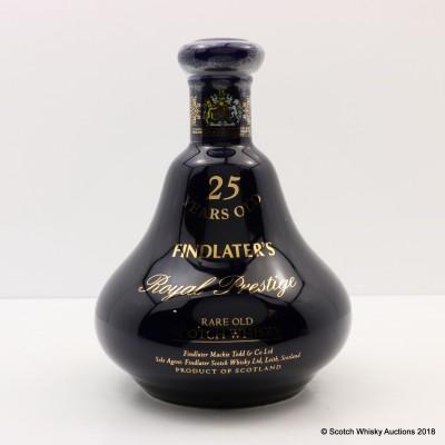 Findlater's 25 Year Old Royal Prestige Ceramic Decanter