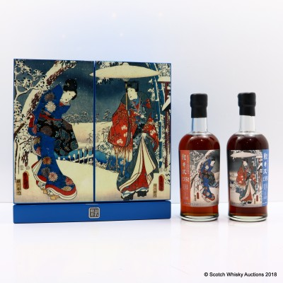 Karuizawa 1981 35 Year Old The Tale Of Genji In The Snow Cask #7427 & #4322 Set