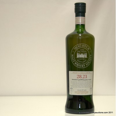 SMWS Tullibardine 21yo single cask