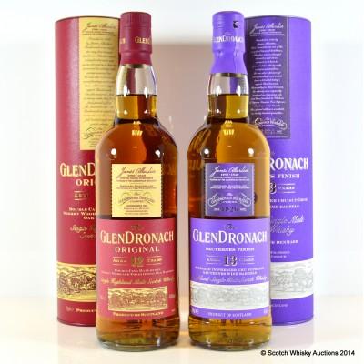 GlenDronach Sauternes Finish 13 Year Old & GlenDronach Original 12 Year Old