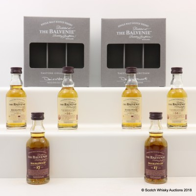 2 Sets of Balvenie Tasting Collection Minis 6 x 5cl