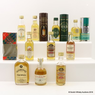 Assorted Minis 10 x 5cl Including Glenrothes 1978 Gordon & MacPhail