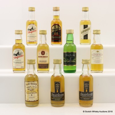 Assorted Minis 10 x 5cl Including Benromach 12 Year Old