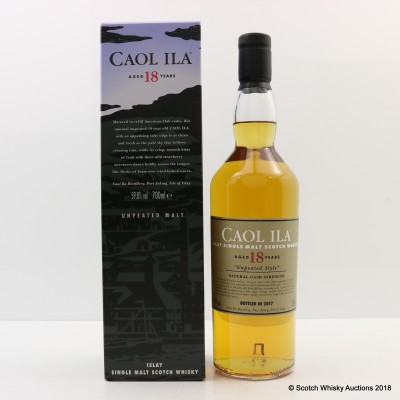 Caol Ila 18 Year Old Unpeated 2017 Release