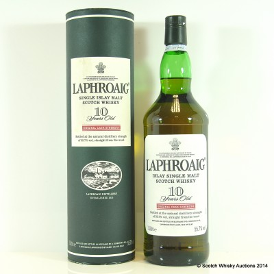 Laphroaig Cask Strength 10 Year Old 1L