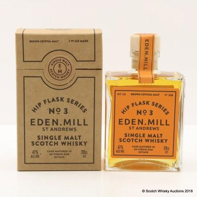 Eden Mill Hip Flask Series No.3 US Virgin Oak Octave Cask 20cl