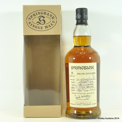 Springbank Marsala Wood 9 Year Old