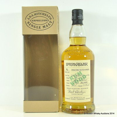 Springbank Rum Wood 16 Year Old