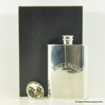 Whyte & Mackay Pewter Hip Flask