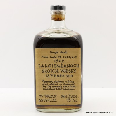 Largiemeanoch 1967 12 Year Old 95° Proof 26 2/3 Fl Oz