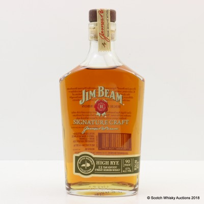 Jim Beam 11 Year Old High Rye 37.5cl