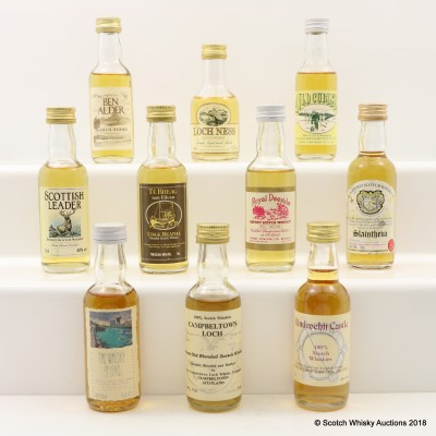 Assorted Minis 10 x 5cl Including Campbeltown Loch