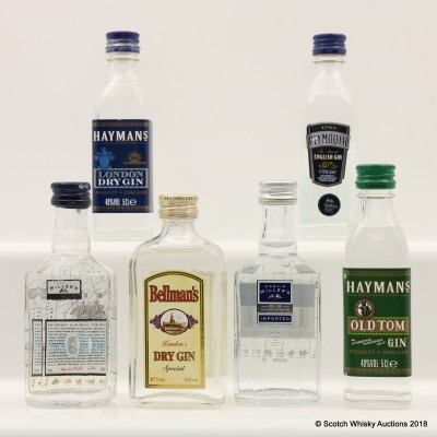Assorted Gin Minis 6 x 5cl including Plymouth Gin