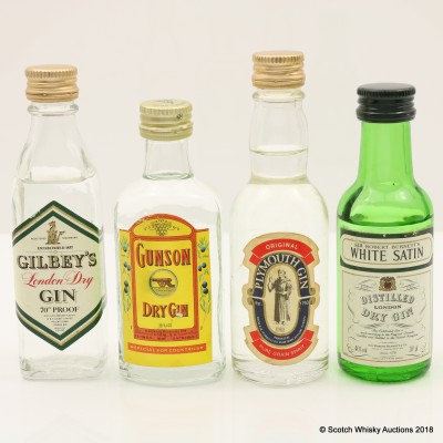 Assorted Gin Minis 4 x 5cl including Gunson Gin