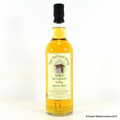Springbank 1998 14 Year Old Whisky Broker