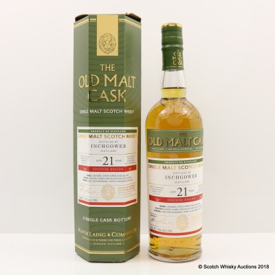Inchgower 1995 21 Year Old Old Malt Cask