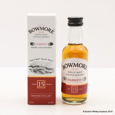 Bowmore 15 Year Old Darkest Minis 12 x 5cl