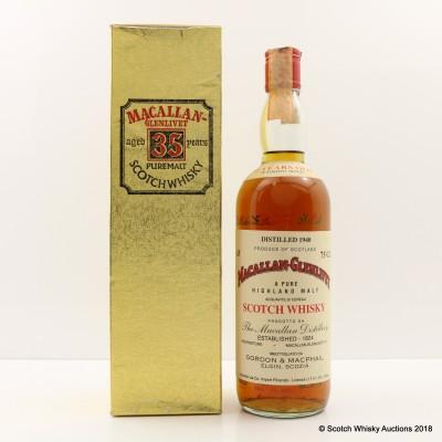 Macallan-Glenlivet 1940 35 Year Old Gordon & MacPhail 75cl