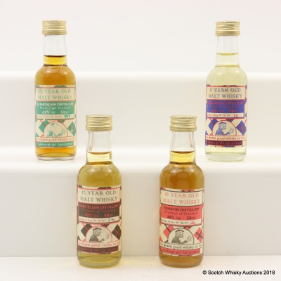 Assorted Dram Good Whisky Co Minis 4 x 5cl Including Port Ellen 13 Year Old