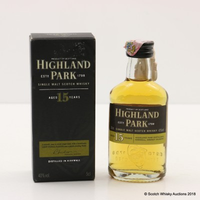 Highland Park 15 Year Old Mini 5cl