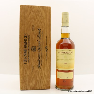 Glenmorangie 1981 20 Year Old Sauternes Wood Finish