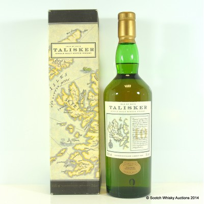 Talisker 10 Year Old Map Label 75cl