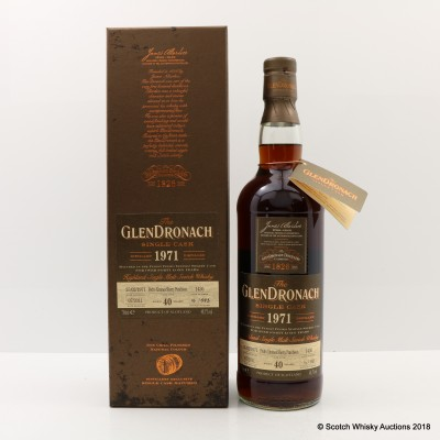 GlenDronach 1971 40 Year Old Single Cask #1436