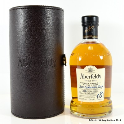 Aberfeldy Single Cask - Chris Anderson's Cask 18 Year Old