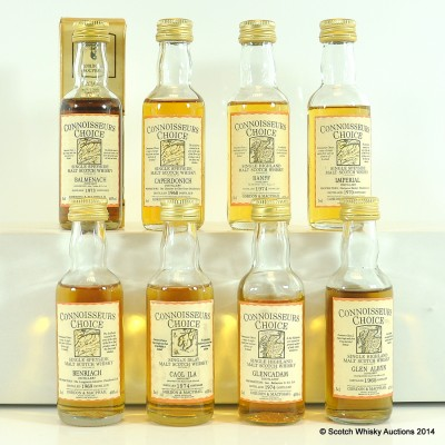 Assorted Connoisseurs Choice Mins Including Banff 1974  8 x 5cl