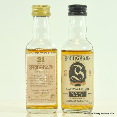 Springbank 21 Year Old Minis 2 x 5cl