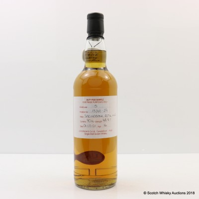 Springbank 2001 16 Year Old Duty Paid Sample
