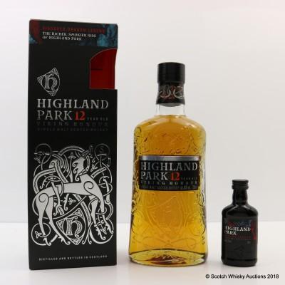 Highland Park 12 Year Old Viking Honour & Dragon Legend Mini 5cl