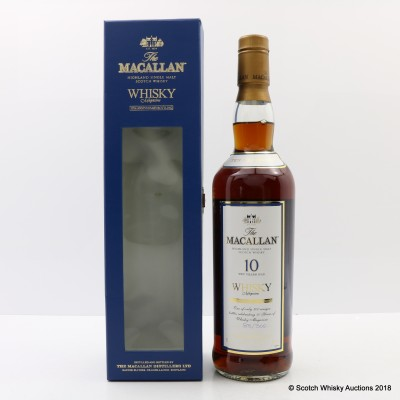 Macallan 10 Year Old Whisky Magazine 10th Anniversary Bottling