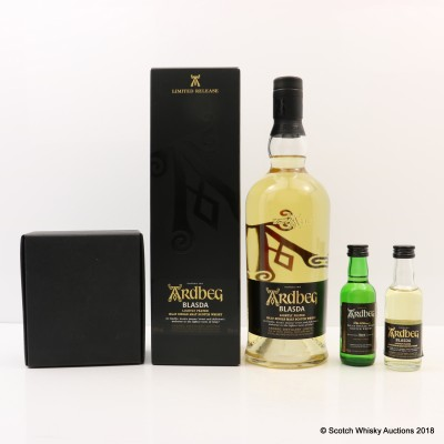 Ardbeg Blasda Limited Release with Matching Mini 5cl & Ardbeg 10 Year Old Mini 5cl
