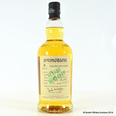 Springbank Rum Wood 12 Year Old