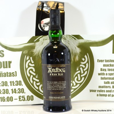 Ardbeg Feis Ile 2011 With Poster & Bag