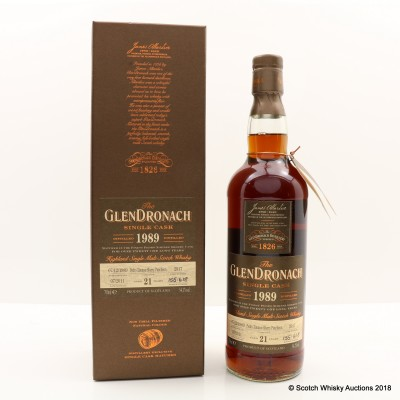 GlenDronach 1989 21 Year Old Single Cask #2917