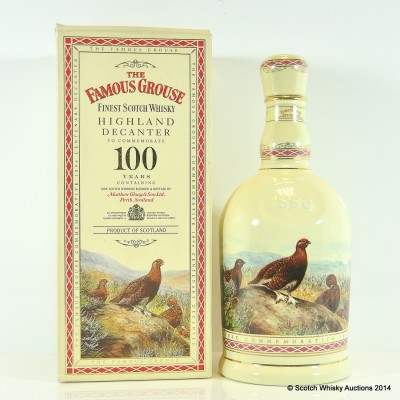 Famous Grouse 100 Year Commemorative Decanter