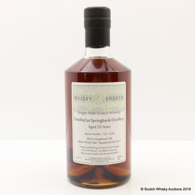 Springbank 1997 20 Year Old Whisky Broker