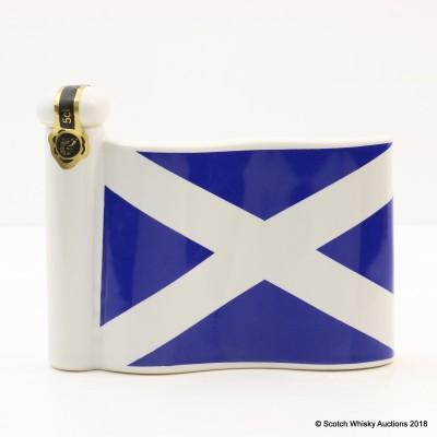 Rutherford's Saltire Flag Ceramic Mini Decanter 5cl