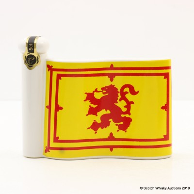 Rutherford's Lion Rampant Flag Ceramic Mini Decanter 5cl
