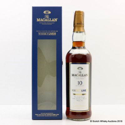 Macallan 10 Year Old Whisky Live 10th Anniversary Bottling