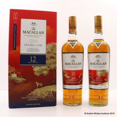 Macallan 12 Year Old Double Cask Year Of The Dog Limited Edition 2 x 75cl