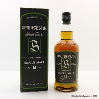 Springbank 15 Year Old Old Style