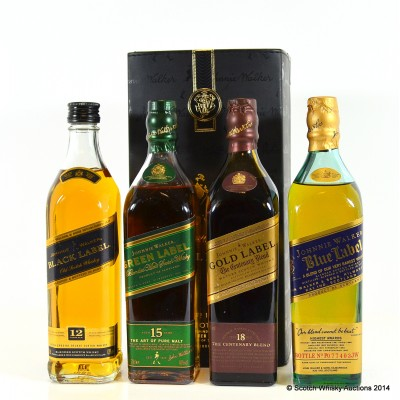 Johnnie Walker The Collection 4 x 20cl £50 Reserve