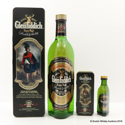 Glenfiddich Clans Of The Highlands Of Scotland Clan Montgomerie 75cl with Matching Mini 5cl