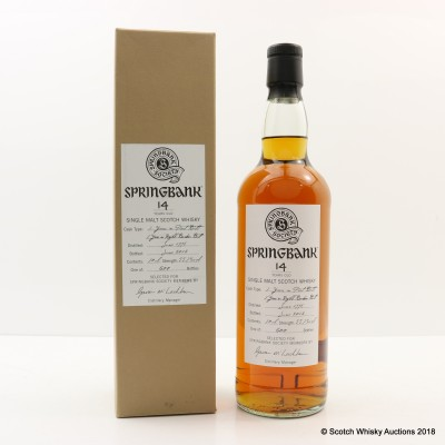 Springbank 1998 14 Year Old Society Bottling