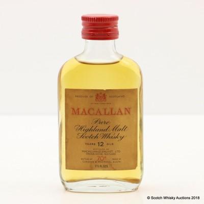 Macallan 12 Year Old Mini 1 2/3 Fl Oz
